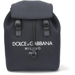 Logo Foldover Backpack - Black - Dolce & Gabbana Backpacks