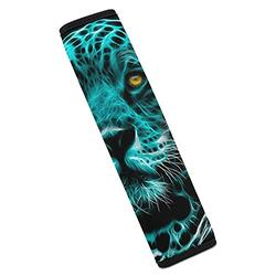 2 Pack Car Seat Belt Pads for Adults and Children Neon Leopard Animals Comfort Car Seatbelt Shoulder Strap Pads Safety Belt Covers Protect Neck and Shoulder for SUV Truck