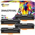 Toner Bank Toner Cartridge Replacement for HP 204A Toner Cartridges CF510A M180nw Toner Laserjet Pro MFP M180n M181fw M154nw M154a CF511A CF512A CF513A (Black Cyan Yellow Magenta, 4 Pack)