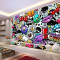 Papier peint Graffiti artistique moderne et créatif, format personnalisé 3D, Non tissé