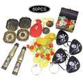 Besegad – jouets Pirate, fournitures de fête, pièces d'or, boussole, trésor, boîte de poitrine,