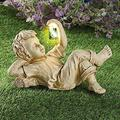 Garden Children Solar Lighted Firefly Jar Light, Girl Statue Whimsical Flowerbed Yard Outdoor Sculpture, Garden Children Sculptures, Decorative Statue for Gardens Outdoor Garden Statue, Funny Gifts Ga