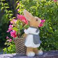 DALIZHAI777 Garden Decor Rabbit Garden Ornaments, Resin Rabbit with Figurine Outdoor Statue Accessories, Decoration for Home Garden Path Lawn Garden Sculptures & Statues