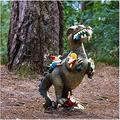 Dinosaur Eating Gnomes Garden Statue, Dinosaur Dwarf Statue Decoration, Outdoor Funny Figurine Art Decor, Sculpture for Patio, Lawn, Yard Decoration Housewarming Garden Funny Gifts Garden Figurine