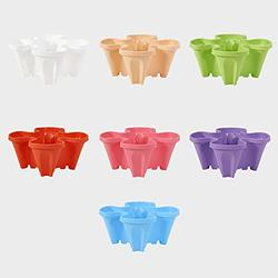 Generic Vertical Planter Stand Stacking Planter Strawberry Planting Pot Vertical Garden Planter Garden Tower Large Four Petal Flower Pot Single Planting Flower Pot Container