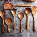 Wooden Kitchen Utensils, Wood Cooking Spoons, Kitchen Utensil Set of 7 Utensil holder Kitchen utensils set Cooking utensils Kitchen utensil holder Kitchen utensils Utensil sets Kitchen set Cooking set