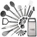 Cooking Utensil Set Stainless Steel 23 Piece Kitchen Gadget Tools Heat Resistant Utensil holder Kitchen utensils set Cooking utensils Kitchen utensil holder Kitchen utensils Utensil sets Kitchen set