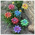 Floral Garden Stake Decor, Metal Daylily Flower Garden Stakes - Plant Pick Water Proof Metal Flower Stick Décor for Lawn Yard Patio