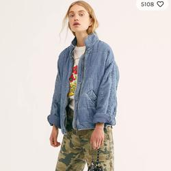 Free People Jackets & Coats   Free People Dolman Quilted Jacket In Denim   Color: Blue   Size: Xs