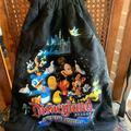 Disney Bags   Disneydrawstring Lightweight Backpack   Color: Black   Size: Os