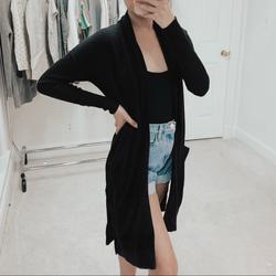 J. Crew Sweaters | J. Crew | Black Lightweight Long Cardigan Sweater | Color: Black | Size: Xxs