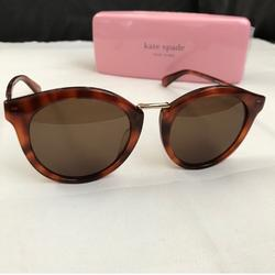 Kate Spade Accessories | 1950s Oval Style Kate Spade Sunglasses New + Case | Color: Brown/Gold | Size: Os