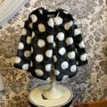 Kate Spade Jackets & Coats | Nwot Kate Spade Faux Fur Polka Dot Jacket | Color: Black/White | Size: 4tg
