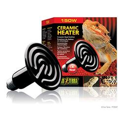 Reptile Ceramic Heat Emitter - 150w - Includes Attached DBDPet Pro-Tip Guide - Great for Bearded Dragons, and Chameleons, Ball Pythons, and Other Nocturnal Reptiles