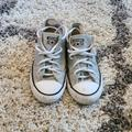Converse Shoes | Converse All Star Sneakers Silver Casual Shoes | Color: Silver/White | Size: 2g