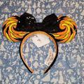 Disney Accessories   Mickey Mouse Halloween Lollipop Ears   Color: Black/Orange   Size: Os