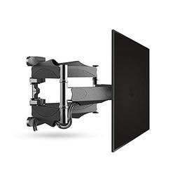 HnF Full Motion TV Wall Mount for 32-55 Inch TVs, Wall Mount for TV with Swivel Articulating Arms, Perfect Center Design TV Mounts Wall, up to VESA 400x400mm and 88 lbs