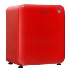 Costway 2.4 Cu.ft. Compact Refrigerator Auto Defrost Mini Fridge Reversible Door Plastic in Red, Size 26.5 H x 20.0 W x 18.5 D in   Wayfair