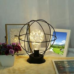 Williston Forge Led Metal Light Battery-Operated Lamp Decoration Light US StockMetal in Black, Size 8.0 H x 8.0 W x 8.0 D in   Wayfair