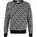 Jacquard-logo Crew Neck Jumper - White - Moncler Knitwear