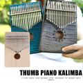 Piano à pouce en bois, 17 touches, Kalimba africain, Sanza Mbira Kalimba, jouer avec guitare,