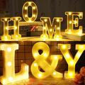16/21CM BRICOLAGE 3D Lumière de Lettre Alphabet Lettre LUMIÈRE LED Ampoules Lampe Décoration De Fête