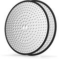 ZEKOO 2 Pack Shower Drain Hair Catcher with Stainless Steel,4.35 Inchs Round Bathtub Drain Cover,Silicone Bath tub Strainer for Hair,Drain Protector for Bathroom & Kitchen…