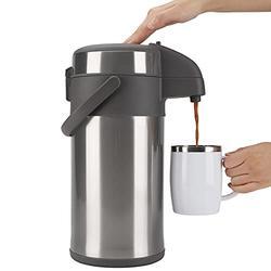 OKADI Airpot Thermal Coffee Dispenser - Stainless Steel Vacuum Insulated Thermal Beverage Dispenser BPA Free Coffee Carafe