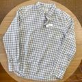 J. Crew Shirts | J. Crew Nwt Gingham Slim Stretch Button Down Shirt | Color: Blue/White | Size: Xl
