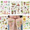 Joy-Enlife couleur hawaïen flamant tatouage enfants tatouage autocollant Body Art imperméable fête