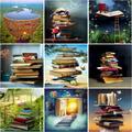 Kit De peinture acrylique par numéros pour adultes, kit De bricolage, cadre en toile, livre