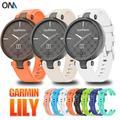 Bracelet de Sport en Silicone souple pour femme, accessoire de rechange pour montre connectée Garmin