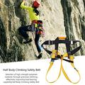 KUIDAMOS Durable Safety Harness Safe Seat Belt Lightweight Climbing Harness Comfortable Safety Fall Arrest Harness for Rock Climbing