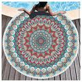Microfiber Beach Towel OversizedSuitable For Camping Gym Beach Swimming Backpackinground Beach Towels Beach Towels Large Beach Towels For Kids Women Men Round Beach Towel(Size:Diameter: 150cm,Color:8)