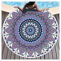Microfiber Beach Towel OversizedSuitable For Camping Gym Beach Swimming Backpackinground Beach Towels Beach Towels Large Beach Towels For Kids Women Men Round Beach Towel(Size:Diameter: 150cm,Color:7)