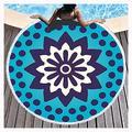 PENGDDP Microfibre Towel Beach Towel Suitable for Camping Gym Beach Swimming Backpacking Towel for Beach Gym Towels Large Beach Towels for Kids Women Men Super Absorbent(Size:Diameter: 150cm,Color:5)