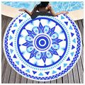 Microfiber Beach Towel OversizedSuitable For Camping Gym Beach Swimming Backpackinground Beach Towels Beach Towels Large Beach Towels For Kids Women Men Round Beach Towel(Size:Diameter: 150cm,Color:1)
