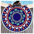 Microfiber Beach Towel OversizedSuitable For Camping Gym Beach Swimming Backpackinground Beach Towels Beach Towels Large Beach Towels For Kids Women Men Round Beach Towel(Size:Diameter: 150cm,Color:2)