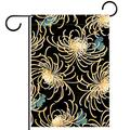 cjg@shop Flag Garden Size Applique Flag - 12 x 18 Inches Outdoor Decor for Homes and Gardens Japanese Style Chrysanthemum