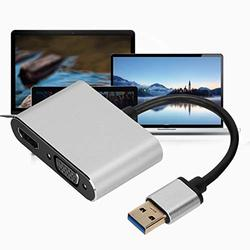 USB Adapter HDMI Adapter Plug and Play Portable Adapter VGA Converter Stable Strong for Laptop for Computer
