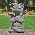 Large Dragon Gothic Garden Decor Statue - The Dragon of Falkenberg Castle Moat Lawn Garden Statue, Funny Outdoor Figurine, Yard Art, Resistant Statue for Garden, Garden Sculptures & Statues (H)