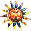 12.8 Inch Wacky Sun Metal Wall Art Decor Face Decor Plaque Sculpture Steel Hanging For Indoor And Outdoor Decorations For Patio Home Garden Decor