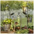 Water Faucet Planter with Solar String Lights - Led Strands, Watering Can, Fairy Lights Solar LED, Star Shower Garden Art Light Decoration, Garden Sculptures & Statues, String Lights for Outdoors