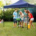 Worpson Pop Up Canopy 10X10 Pop Up Canopy Tent Party Tent Better Air Circulation Outdoor Gazebo w/ Backpack Bag, Blue | Wayfair WP-PC-330-Blue