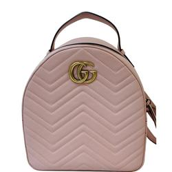Gucci Bags   Gucci Gg Marmont Rucksack Chevron Backpack Bag   Color: Pink   Size: Os