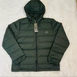 Adidas Jackets & Coats | New Adidas Helionic Jkt Real Down Hoodie Jacket | Color: Green | Size: Xl
