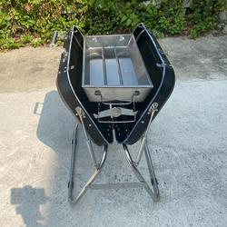 """Farsaw 24"""" Portable Folding Charcoal Barbecue Bbq Grill For Outdoor Cooking & CampingStainless Steel in Gray, Size 26.0 H x 17.0 W x 24.0 D in"""