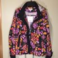 Lularoe Jackets & Coats | Black Floral Full Zip Hooded Windbreaker Jacket | Color: Black | Size: M