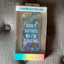 American Eagle Outfitters Accessories   Iphone Floating Glitter Case   Color: Blue/Silver   Size: Iphone 8, 7, 6 & 6s