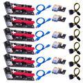 Adaptateur USB 3.0 PCI-E Riser BTC VER 009S Express 1x4x8x16x, carte d'extension SATA 15 broches à 6